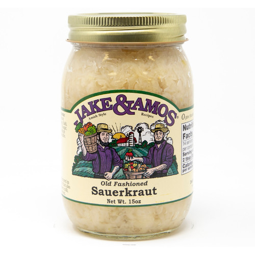 12/16oz Jake and Amos  Old Fashioned Sauerkraut