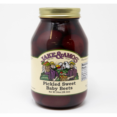 J&A Pickled Sweet Baby Beets 12/34oz