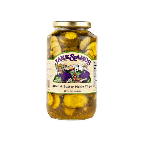 12/32oz Jake and Amos  Bread & Butter Pickle Chips