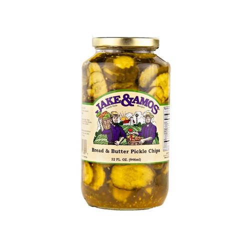 J&A Bread & Butter Pickle Chips 12/33oz
