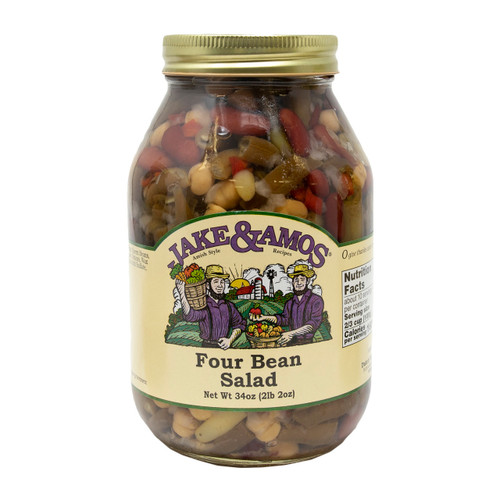 12/32oz Jake and Amos  Four Bean Salad