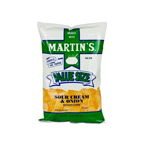Sour Cream & Onion Ripple Chips 6/15oz