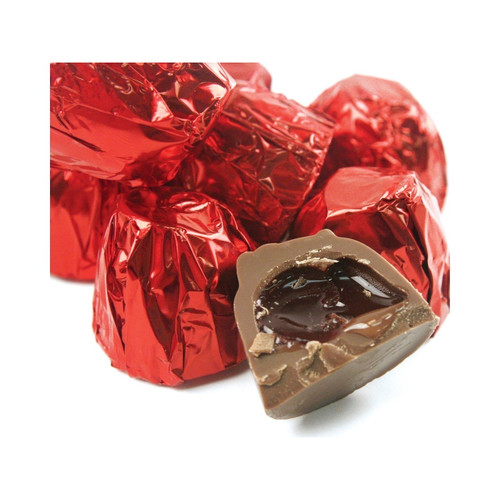 Milk Chocolate Cordial Cherries with Foil 6lb