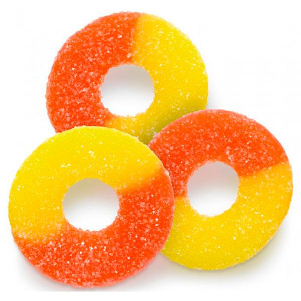 Peach Gummi Rings 4/4.5lb
