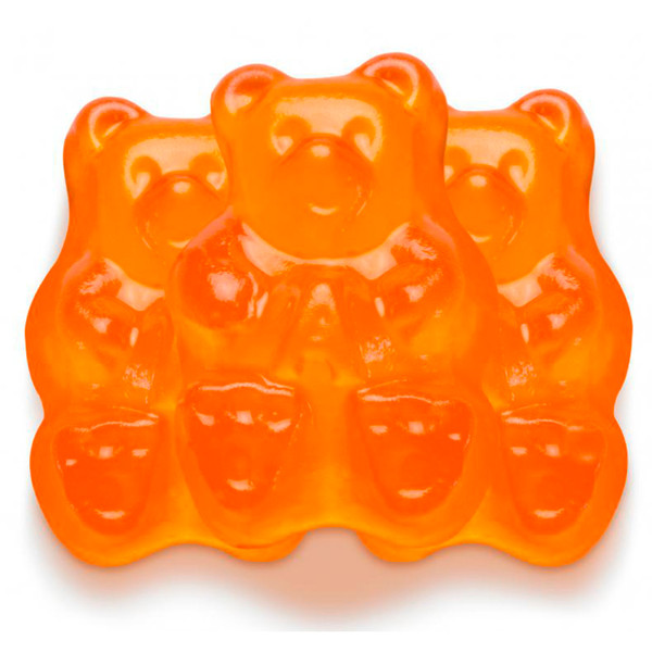 Ornery Orange Gummi Bears 4/5lb