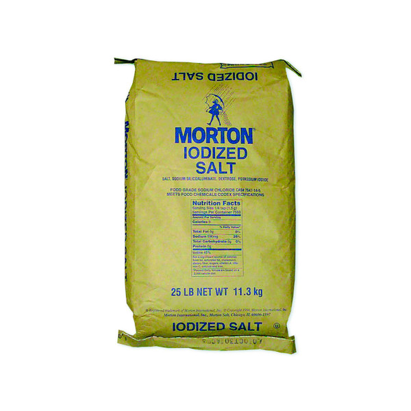 Iodized Table Salt (Morton) 25lb