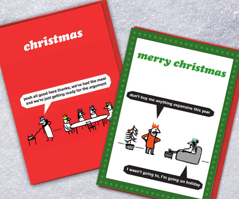 shop modern toss xmas cards