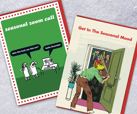 shop modern toss (rude) xmas cards