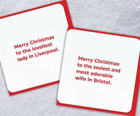 Quotish Personalised Xmas Cards