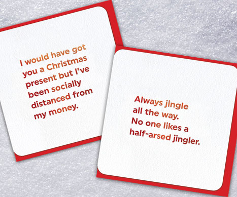 shop quotish xmas cards