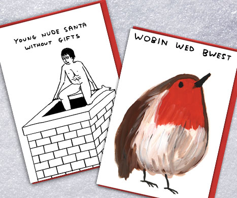 shop david shrigley xmas cards