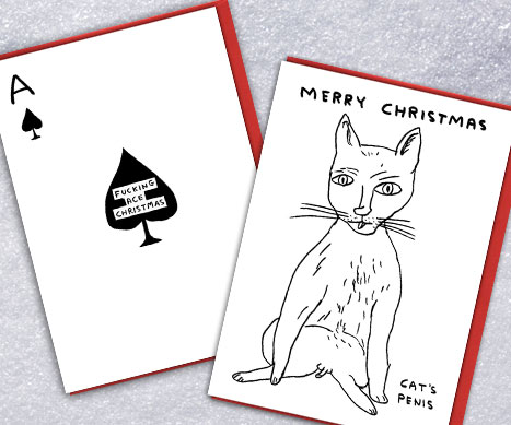 David Shrigley rude xmas cards
