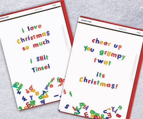 shop well cool rude xmas cards