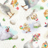 18733-White    3 Wishes Fabrics Welcome to the Funny Farm - Digital
