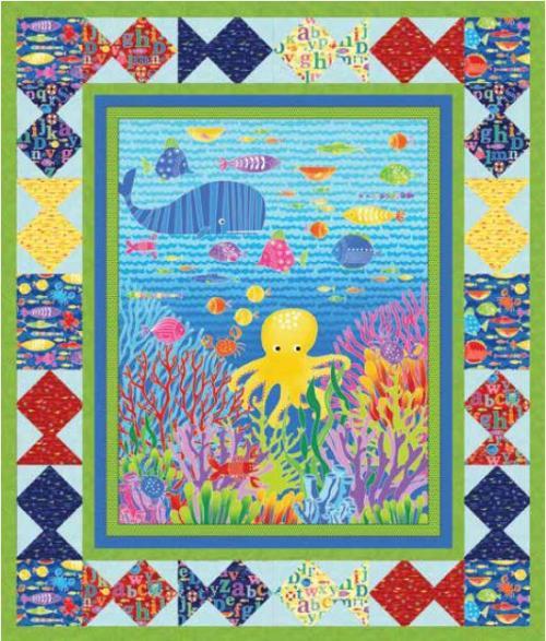 Alpha Fish Quilt #1