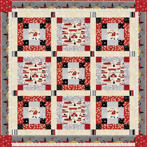 Around Town Christmas Quilt #2