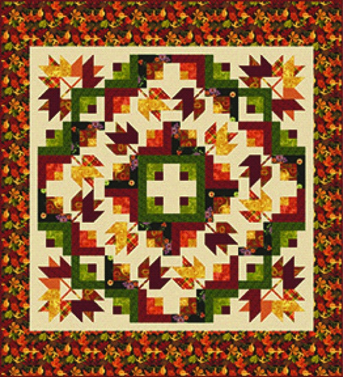 """Autumn Abundance"" Free Autumn Pattern designed by Heidi Pridemore from Studio E Fabrics"