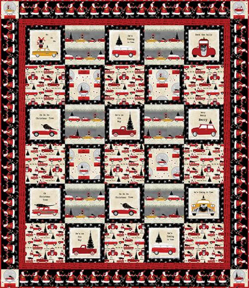 Around Town Christmas Quilt #1