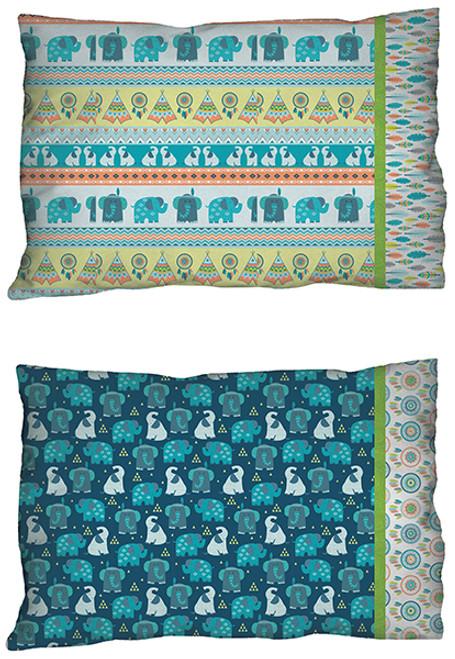 Boho Baby Pillowcase - Blue