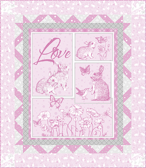 Bunny Love Quilt #1