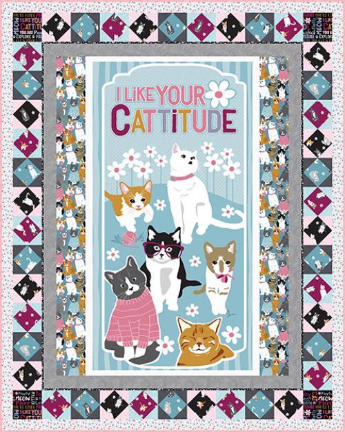 Cattitude Quilt #1
