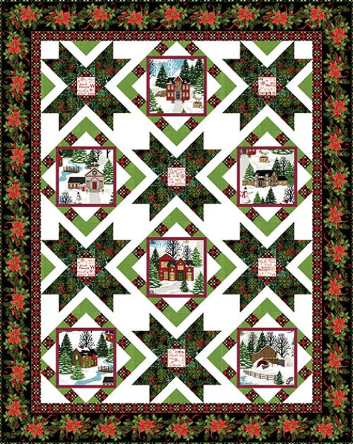 Christmas Village Quilt #1