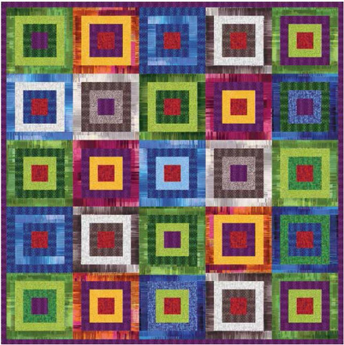 """Culture Shock Quilt #1"" Free Easy to Sew Quilt Pattern designed & from Studio e Fabrics"