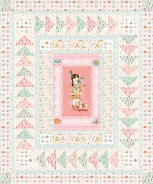 """""""Dream Catchers"""" a Free Flannel Quilt Pattern designed by & from Studio e Fabrics"""