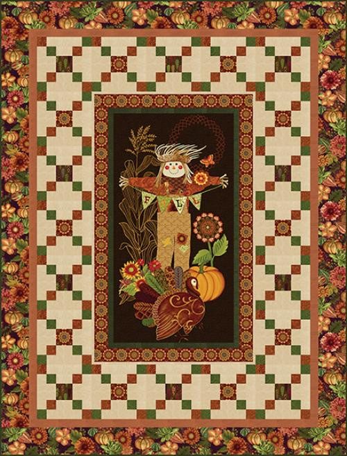 """Fall Festival Quilt #1"" Free Autumn Pattern designed by Heidi Pridemore from Studio E Fabrics"