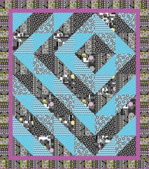 Licorice Candy Quilt #2