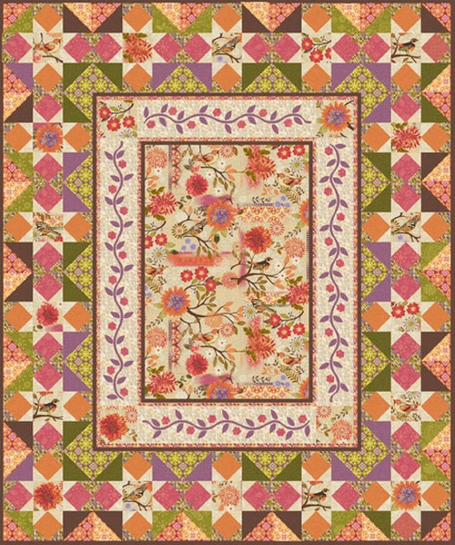 """Meadowlark Quilt"" Free Autumn Pattern designed by & from Studio E Fabrics"