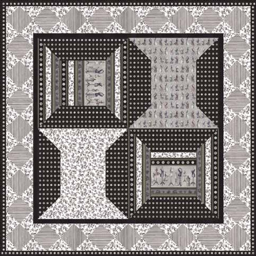 Oh! Sew Beautiful Quilt 1 - Charcoal