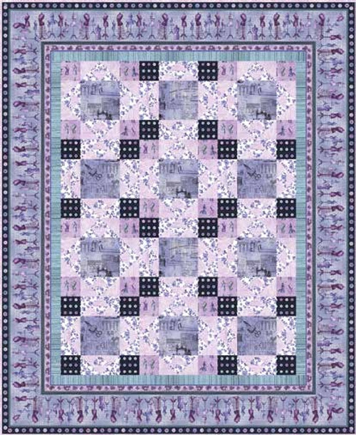 """Oh! Sew Beautiful Quilt #2 Lavender"" Free Easy to Sew Quilt Pattern designed & from Studio e Fabrics"