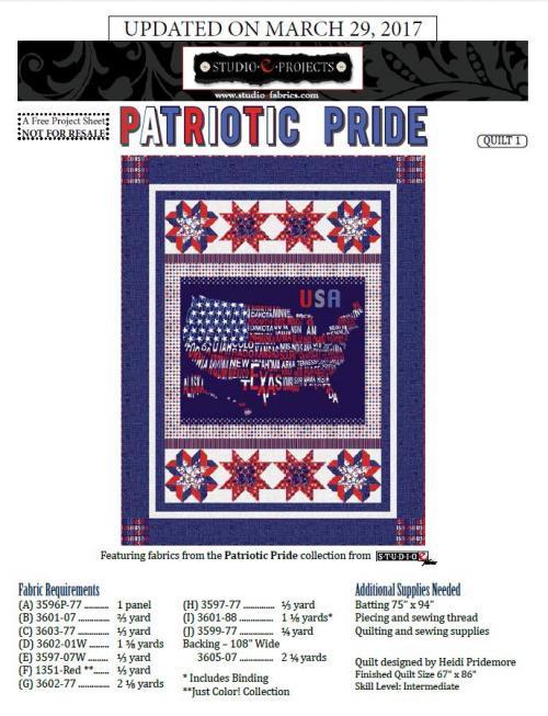 Patriotic Pride Quilt #1