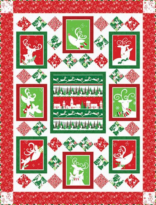 Peppermint Reindeer Quilt #2