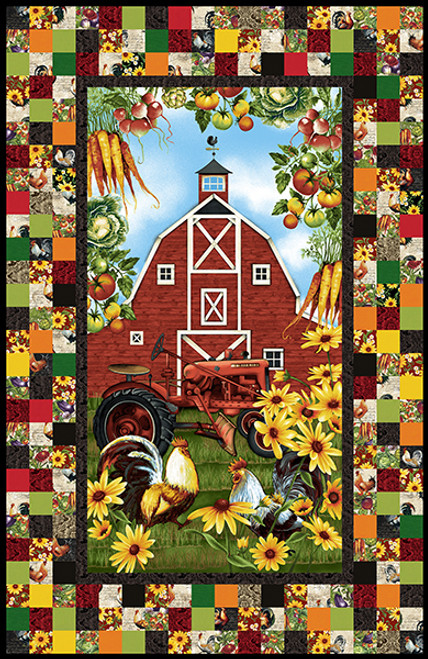 """Farmer's Market Quilt #1"" Free Autumn Pattern designed by & from Studio E Fabrics"