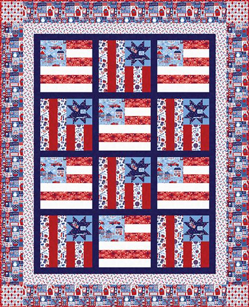 Patriotic Parade Quilt #1