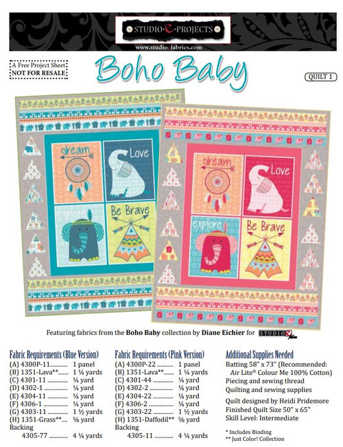 Boho Baby Quilt #1
