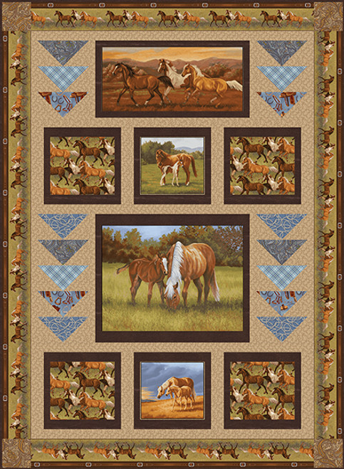 Hold Your Horses Quilt #1