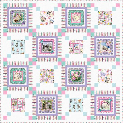 Kitty Glitter Quilt #1