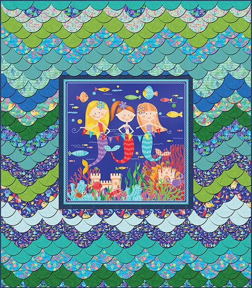 Mermaid Rocks Quilt #1