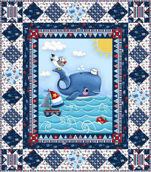 A Whale of a Time Quilt #3