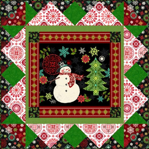 Holly Jolly Panel Quilt