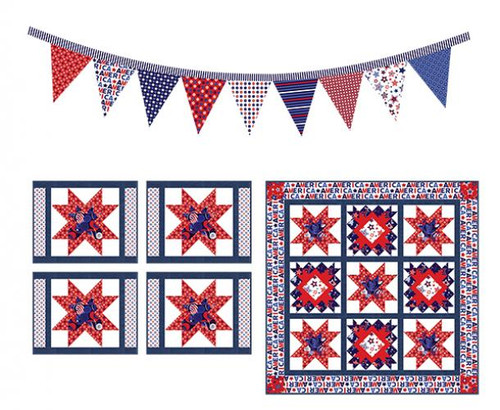 Red White and Starry Blue Table Set