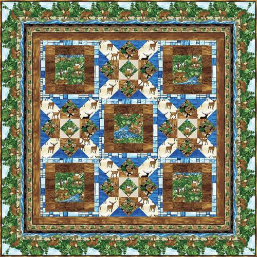 Mosaic Forest Quilt # 2