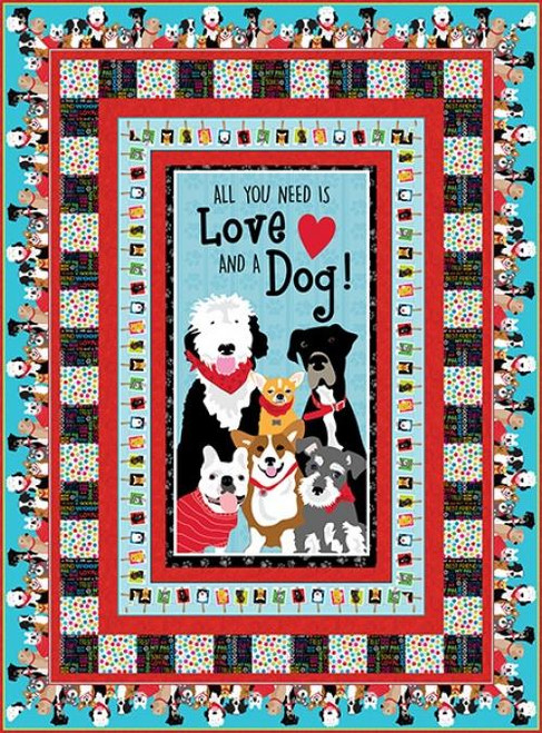 Must Love Dogs Quilt # 1