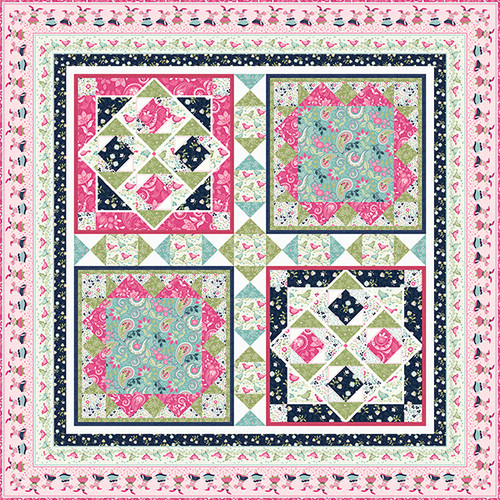 Boho Blooms Quilt #1