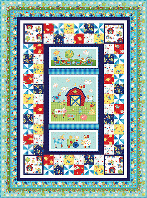 Little Red Barn Quilt #1