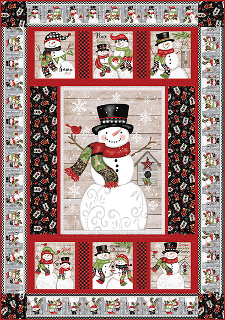Snow Place Like Home Quilt #1
