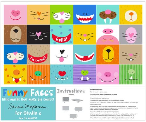 5735P-01 Multi ||  Funny Faces